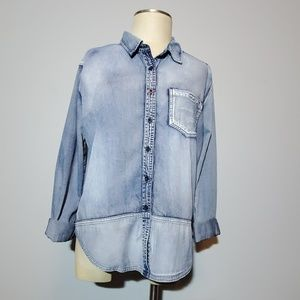 Volcom denim shirt medium NWOT